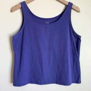 EIleen Fisher Tank Top Sleeveless Blue Violet L